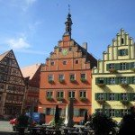 kurze Pause am Marktplatz in Gunzenhausen