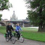 Fahrradfahrer in Dresden