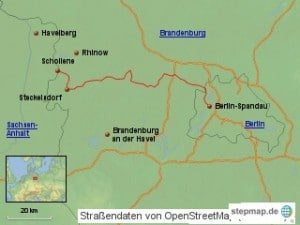 havellandradweg-karte