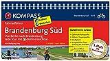 KOMPASS Fahrradführer Brandenburg Süd, Von Berlin nach Brandenburg: Fahrradführer mit Routenkarten im optimalen Maßstab.: Fietsgids 1:50 000