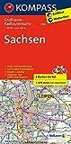 Sachsen: Großraum-Radtourenkarte 1:125000, GPX-Daten zum Download: 2-delige fietskaart 1:125 000 (KOMPASS-Großraum-Radtourenkarte, Band 3708)