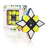 CUBIDI® 3x3x1 Cube und Spinner in einem - Star Brainteaser für Kinder und Erwachsene - Fidget Toy