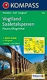 Vogtland - Saaletalsperren - Plauen: Wanderkarte mit Kurzführer, Radwegen und Loipen. 1:50.000 (Kompaß-Wanderkarte, Band 805)