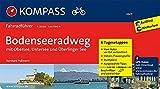 KOMPASS Fahrradführer Bodenseeradweg mit Obersee, Untersee und Überlinger See: Fahrradführer mit 6 Tagesetappen, GPX-Daten zum Download und Routenkarten im optimalen Maßstab.