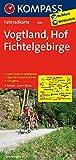 KOMPASS Fahrradkarte Vogtland - Hof - Fichtelgebirge: Fahrradkarte. GPS-genau. 1:70000 (KOMPASS-Fahrradkarten Deutschland, Band 3081)