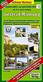 Radwander- und Wanderkarte Unstrut-Radweg: Von der Quelle im Eichsfeld über Mühlhausen, Bad Langensalza, Sömmerda, Heldrungen, Artern und Freyburg bis ... (mit Zick-Zack-Faltung) (Schöne Heimat)