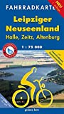 Fahrradkarte Leipziger Neuseenland: Mit UTM-Gitter für GPS. Maßstab 1:75.000. Wasser- und reißfest.: Halle, Zeitz, Altenburg (Fahrradkarten)