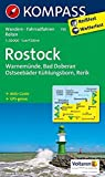 KOMPASS Wanderkarte Rostock - Warnemünde - Bad Doberan: Wanderkarte mit Aktiv Guide, Radwegen und Reitwegen. GPS-genau. 1:50000: Wandelkaart 1:50 000 (KOMPASS-Wanderkarten, Band 735)