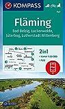 KOMPASS Wanderkarte Fläming: Wanderkarte mit Aktiv Guide und Radtouren. GPS-genau. 1:50000 (KOMPASS-Wanderkarten, Band 747)