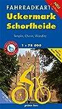 Fahrradkarte Uckermark, Schorfheide: Mit Radweg Berlin–Usedom. Mit UTM-Gitter für GPS. Maßstab 1:75.000. Wasser- und reißfest. (Fahrradkarten)