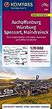 KOMPASS Fahrradkarte Aschaffenburg, Würzburg, Spessart, Maindreieck 1:70.000, FK 3351: reiß- und wetterfest mit Extra Stadtplänen (KOMPASS-Fahrradkarten Deutschland, Band 3351)