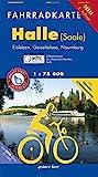 Fahrradkarte Halle (Saale): Mit Eisleben, Geiseltalsee, Naumburg. Mit Himmelsscheiben-Radweg. Mit UTM-Gitter für GPS. Offizielle Karte des ... Wasser- und reißfest. (Fahrradkarten)