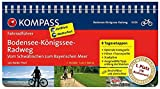 KOMPASS Fahrradführer Bodensee-Königssee-Radweg - Vom Schwäbischen zum Bayerischen Meer: Fahrradführer mit Routenkarten im optimalen Maßstab.