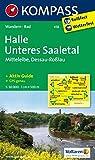 KOMPASS Wanderkarte Halle - Unteres Saaletal - Mittelelbe - Dessau - Roßlau: Wanderkarte mit Kurzführer und Radwegen. GPS-genau. 1:50000 (KOMPASS-Wanderkarten, Band 458)
