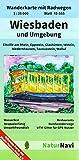 Wiesbaden und Umgebung: Wanderkarte mit Radwegen, Blatt 44-555, 1 : 25 000, Bad Schwalbach, Eltville am Rhein, Hohenstein, Niedernhausen, ... (NaturNavi Wanderkarte mit Radwegen 1:25 000)