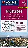 KOMPASS Fahrradkarte Münster und Umgebung 1:50.000, FK 3212: reiß- und wetterfest (KOMPASS-Fahrradkarten Deutschland, Band 3212)