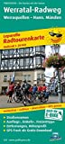 Werratal-Radweg, Werraquellen - Hann. Münden: Leporello Radtourenkarte mit Ausflugszielen, Einkehr- & Freizeittipps, wetterfest, reissfest, ... 1:50000 (Leporello Radtourenkarte / LEP-RK)