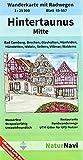 Hintertaunus Mitte: Wanderkarte mit Radwegen, Blatt 45-557, 1 : 25 000, Bad Camberg, Brechen, Glashütten, Hünfelden, Hünstetten, Idstein, Selters, ... (NaturNavi Wanderkarte mit Radwegen 1:25 000)