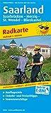 Saarland: Radkarte mit Ausflugszielen, Einkehr- & Freizeittipps, wetterfest, reissfest, abwischbar, GPS-genau. 1:100000 (Radkarte: RK)