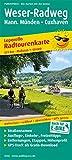Weser-Radweg, Hann. Münden - Cuxhaven: Leporello Radtourenkarte mit Ausflugszielen, Einkehr- & Freizeittipps, wetterfest, reissfest, abwischbar, GPS-genau. 1:50000 (Leporello Radtourenkarte: LEP-RK)