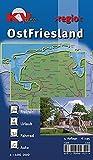OstFriesland: 1:100.000 regio inkl. 60 Freizeittipps mit Infohotline, 16 Citykarten (1:25.000) 18 Radrouten und allen 7 ostfriesischen Inseln (KVplan Ostfriesland-Region)