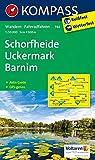 KOMPASS Wanderkarte Schorfheide - Uckermark - Barnim: Wanderkarte mit Aktiv Guide und Radwegen. GPS-genau. 1:50000: Wandelkaart 1:50 000 (KOMPASS-Wanderkarten, Band 744)