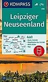 KOMPASS Wanderkarte Leipziger Neuseenland: 4in1 Wanderkarte 1:50000 mit Aktiv Guide und Detailkarten inklusive Karte zur offline Verwendung in der ... (KOMPASS-Wanderkarten, Band 818)