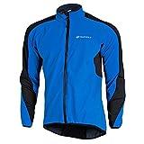 Fitsund Herren Fahrradjacke Langarm Winter Radjacke Warm Mountainbike Jacket (Blau, L)