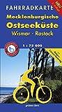 Fahrradkarte Mecklenburgische Ostseeküste Wismar, Rostock: Mit Tourentipps. Wasser- und reißfest. (Fahrradkarten)