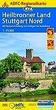 ADFC-Regionalkarte Heilbronner Land - Stuttgart Nord 1:75.000, reiß- und wetterfest, GPS-Tracks Download: Mit Neckartal-Radweg von Stuttgart bis Heidelberg (ADFC-Regionalkarte 1:75000)