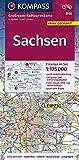 KV GRK 3708 Sachsen 1:125 000: Großraum-Radtourenkarte 1:125000, GPX-Daten zum Download (KOMPASS-Großraum-Radtourenkarte)