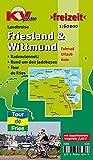 Friesland/Wittmund und Wilhelmshaven: Landkreiskarten inkl. Inseln, Tour de Fries. 1:60.000: Radroutennetz. Rund um den Jadebusen. Tour de Fries (KVplan Ostfriesland-Region)