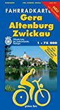 Fahrradkarte Gera, Altenburg, Zwickau: Mit Radwanderweg Thüringer Städtekette. Mit Tourentipps. Offizielle Karte des ADFC-Landesverbandes Thüringen. Maßstab 1:75.000. (Fahrradkarten)