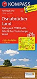 KOMPASS Fahrradkarte Osnabrücker Land, Naturpark TERRA.vita, Nördlicher Teutoburger Wald: Fahrradkarte. GPS-genau. 1:70000 (KOMPASS-Fahrradkarten Deutschland, Band 3035)