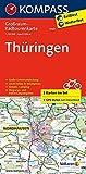 Thüringen: Großraum-Radtourenkarte 1:125000, GPX-Daten zum Download (KOMPASS-Großraum-Radtourenkarte, Band 3707)