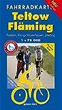 Fahrradkarte Teltow, Fläming: Mit Flaeming-Skate. Mit UTM-Gitter für GPS. Maßstab 1:75.000. Wasser- und reißfest. (Fahrradkarten)