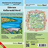 Edersee - Kellerwald Nord: Wanderkarte mit Radwegen, Blatt 50-566, 1 : 25 000, Nationalpark Kellerwald-Edersee, Bad Wildungen, Edertal, Frankenau, ... (NaturNavi Wanderkarte mit Radwegen 1:25 000)
