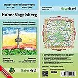 Hoher Vogelsberg: Wanderkarte mit Radwegen, Blatt 52-560, 1 : 25 000, Grebenhain, Herbstein, Lauterbach (Hessen), Lautertal (Vogelsberg), Schotten, ... (NaturNavi Wanderkarte mit Radwegen 1:25 000)