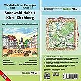 Soonwald-Nahe 1 - Kirn - Kirchberg: Wanderkarte mit Radwegen, Blatt 39-552, 1 : 25 000, Bad Sobernheim, Mittleres Naheland, Simmertal (NaturNavi Wanderkarte mit Radwegen 1:25 000)