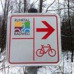 Wegweiser Ruhrtalradweg
